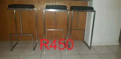 Stainless steel bar chairs for sale