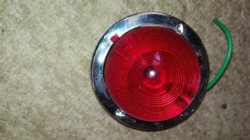 Tail light with crome holder for older trailer