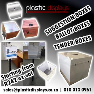 Tender Boxes - Clear and Customised