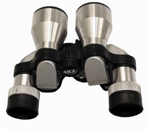 Silver opera binoculars with cleaning cloth and pouch!! On Promotion!!!