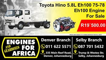 Toyota Hino 5.8L Eh100 75-78 Engine For Sale