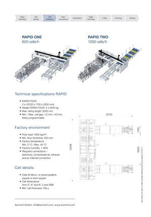 Somont Rapid 2 Stringer - Solar Panel Manufacturing Lines