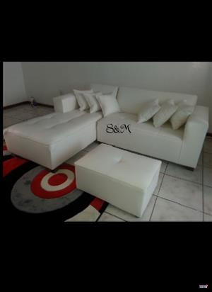 SM Designs White Corner Couch