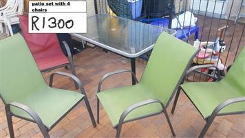 4-piece patio set