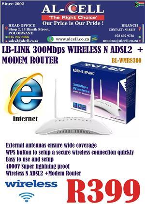 LB-LINK 300 Mbps Wireless N ADSL2 + Modem Router