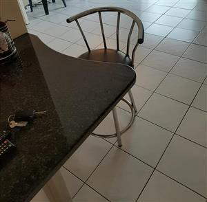 Granite breakfast nook + 2 chairs