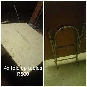 4 Fold up tables for sale