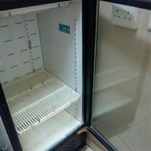 big glass door fridge