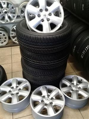 Toyota hilux 17 inch rims with 245/65/17 Pirelli on special for R8499 set.
