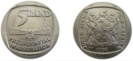 R5 Mandela Inauguration Coin