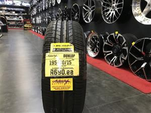 "15"" inch tyres tire 195/65/15 Dunlop brand new"