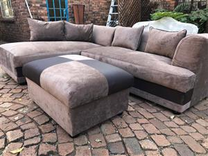 L-Shape Couch & Matching Ottoman