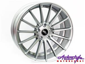 18 inch Evo 0084 5 112 Matt grey Alloy Wheels