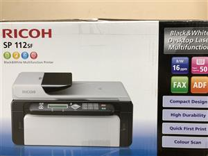 BRAND NEW  Ricoh SP 112SF 4 in 1 multifunction laser printers