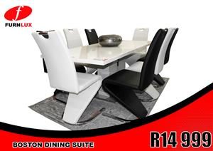 DINING SUITE BRAND NEW !!!! BOSTON EXTENSION DINING SUITE FOR ONLY R 14 999