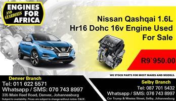 Nissan Qashqai 1.6L Hr16 Dohc16v Engine Used For Sale
