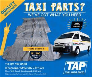 Toyota Quantum Rear Floor Mat - Taxi Auto Parts quality used spares - TAP