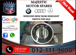Mercedes benz W246 headlight switch for sale