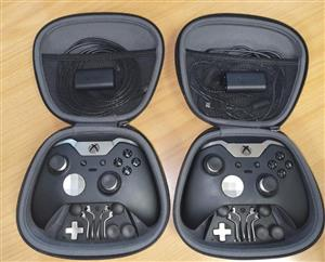 Xbox One Elite Pro Controllers, Paddles, Removable Sticks, Carry Case & Attachments + Rechargeable Battery Pack & Long Cable⭐, used for sale  Boksburg