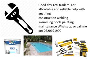 construction welding  swimming pools painting maintenance temporary