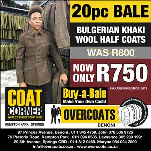 Second Hand Coats And Jackets For Sale In Bulk At The