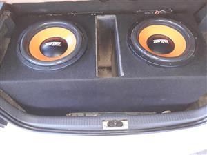 2×12inch targa 2D 8000watt subs with box for sale.