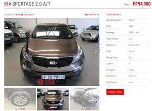 2014 Kia Sportage 2.0 auto