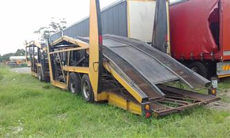 9 Car Carrier Trailer, full license for 2019 !!! SPECIAL FOR THE DAY !!!