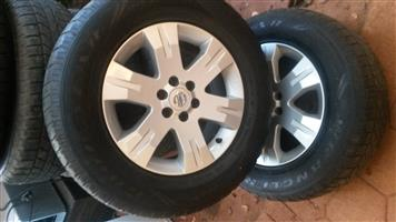 "Nissan Navara 17"" rims x 3 in excellent condition."