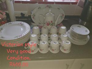 Victorian style dinner set for sale