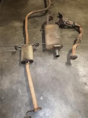 Complete exhaust system with manifold