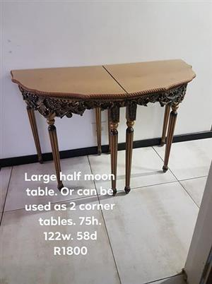 Large halfmoon table for sale