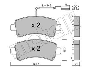 Citroen Jumper III, Fiat Ducato V Rear Brake Pads Available At Voxwagen, Lenasia.