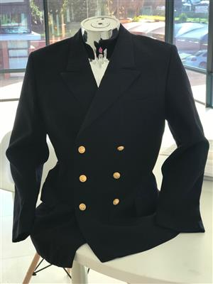 Pay only R390 for Vintage German Navy Gaberdine Pea Coat