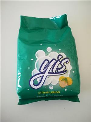 Yis washing powder 1kg at  R15.00 per kg