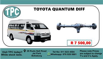 Toyota Quantum Diff - For Sale at TPC
