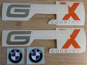 BMW G650 X motorcycle decals stickers / vinyl cut graphics