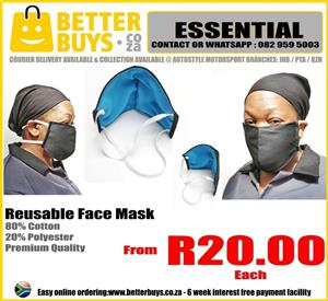 Reusable Face Masks - PROTECTIVE - WASHABLE
