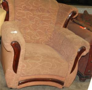 Brown single couch S030651A #Rosettenvillepawnshop