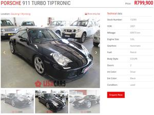 2001 Porsche 911 turbo S coupe