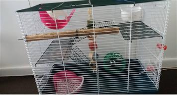 LARGE RAT CAGE WITH LOADS OF ACCESSORIES
