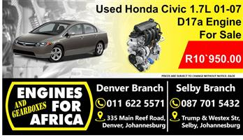 Used Honda Civic 1.7L Vtec 01-07 D17a Engine For Sale