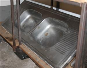 Double kitchen sink S029020a #Rosettenvillepawnshop