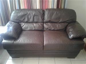 Two x2 seater genuine leather couches for sale