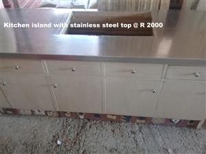 Kitchen Island with Stainless Steel Top
