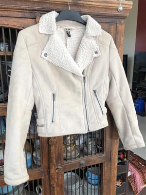 Suede Ladies jacket - great for Winter - Size 12