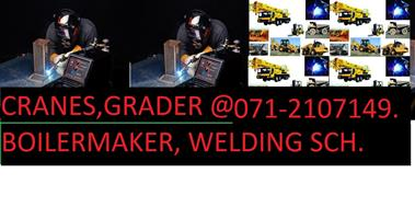 BOILERMAKER.(MIG) ARGON. WELDING. 0795760144. Trade test. cranes.grader.CERTIFICATES.REFRESHER COURSE.