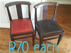 2x Wooden chairs.