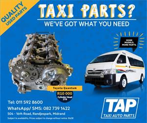 Toyota Quantum 2TR CYLINDER HEAD - Taxi Auto Parts quality used spares - TAP