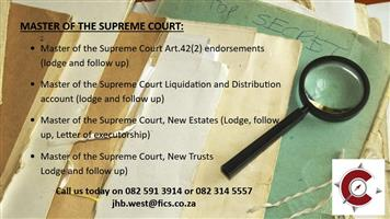 Master of the Supreme Court Enquiries